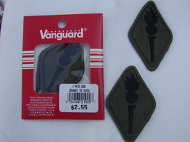 Army PATCH- Signal School Subdued Pair In Vanguard Pack - $2.35