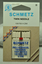 Schmetz Sewing Machine Twin Needle 1723 - $6.62