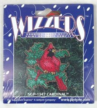 Janlynn Wizzers Counted Cross Stitch Ornament CARDINAL SGP-1347 - $10.77