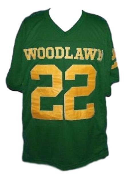Tony nathan woodlawn movie football jersey green   1