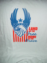 Land of The Free Home of The Brave Size Large T-Shirt - $16.00