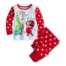 Wdw Disney Minnie Mouse Holiday Pj Pals Set Brand New With Tags - $19.99