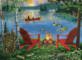 """Paint By Number Kit 15.375""""X11.25""""-Lakeside Retreat - $11.99"""