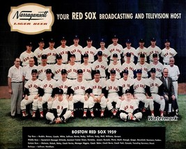MLB 1959 Boston Red Sox Team Picture Color Narragansett Beer 8 X 10 Phot... - $9.99