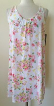 Lauren Ralph Lauren Garden Party Short Knit Gown 813998 White Flower S M - $28.00