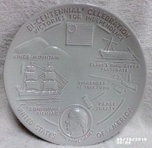 Frankoma 4th Issue 1975 Bi-Centennial Plate Victories Independence Joniece Frank - $15.99