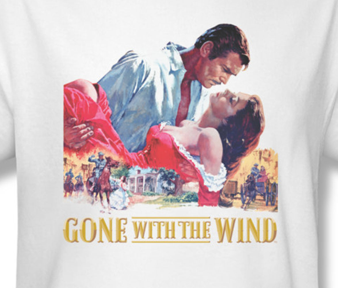 Gone with the wind romance scarlett ohara clark for sale online graphic tee wbm121 at