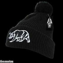 California Republic Black Knit Acrylic Skull B EAN Ie Winter Ski B EAN Ie Hat Cap - $27.07