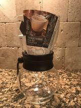 NWOT Drip Pot Woodneck Coffee, Dark wood Leather Professional Taste - $31.67