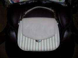 Kate Spade Handbag Beige W/Beige Stripes Leather RN0102760 CA57710 - $171.60