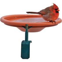 Audubon Woodlink Clay Deck Mount Bird Bath 1 Quart Cap 047977010113 - £21.53 GBP