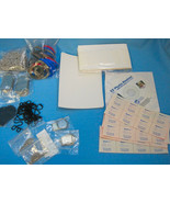 Photo Jewelry Supplies Dog Tags Ball Chains Paper Seals Large Lot - $79.25