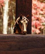 Vintage Crown Trifari Horse Head Brooch w Green Rhinestone Eye, Alfred P... - $545.00