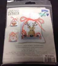 Vercaco DIY Christmas Buddies 3 Bags Counted Cross Stitch KIT - $12.59