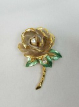 Vintage Englands Rose 1997 R J Graziano princess Dianna tribute brooch flower - $27.49