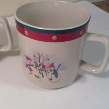 Royal Season Stoneware Snowman Cups Mugs Lot of 4 - $14.50