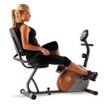 Recumbent Exercise Bike Seated 8 Levels Preset Resistance Easy-to-Adjust... - $227.10