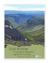 Steens Mountain Protection Area Oregon - US National Conservation Land Art Print - $14.95