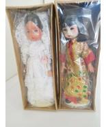 Vintage 1982 Vogue Ginny Lot of (2) International Ginny Dolls MIB - $15.99