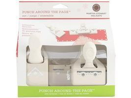 Martha Stewart Punch Set Around the Page Combo, Poinsettia Flourish  - $29.99