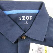 IZOD Men's Short Sleeve Advantage Polo Shirt Navy Quick Dry Size M - $25.73