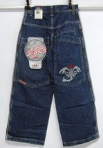 JNCO SCORPION NOS 2002 BOY'S (10) W26 L25 DARK BLUE JEANS 100% COTTON NW... - $28.79