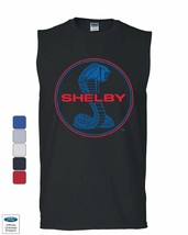 Shelby Cobra Ford Mustang Muscle Shirt American Muscle Ford Racing Sleev... - $14.99+