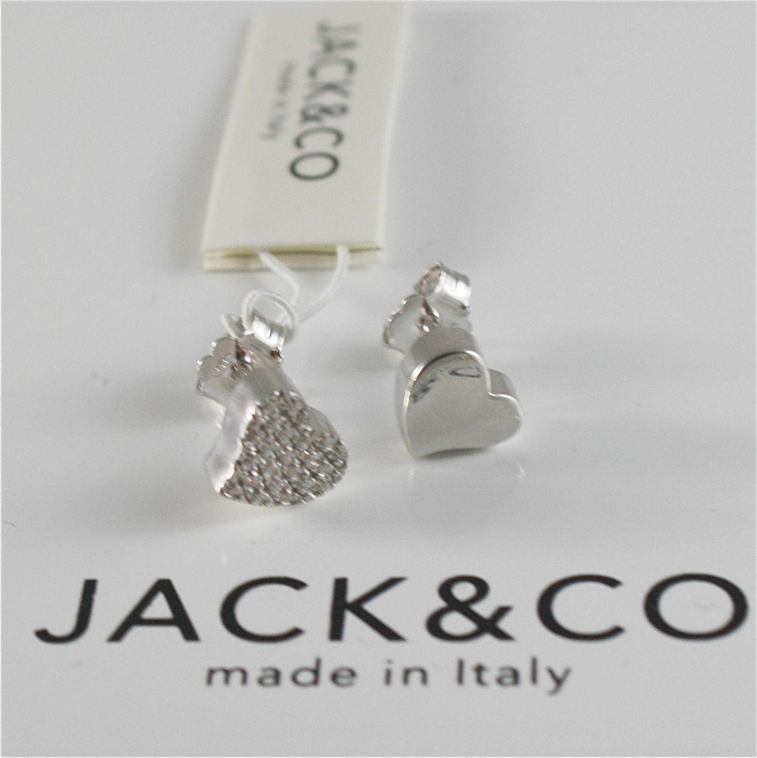 Silver Earrings 925 Jack&co with Heart Love with Zircon Cubic JCE0454