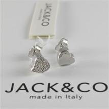 Silver Earrings 925 Jack&co with Heart Love with Zircon Cubic JCE0454 image 1