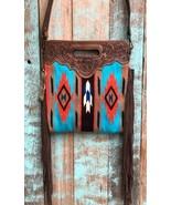 American Darling Rust Serape Saddle Blanket Clutch/Shoulder Bag - $124.99