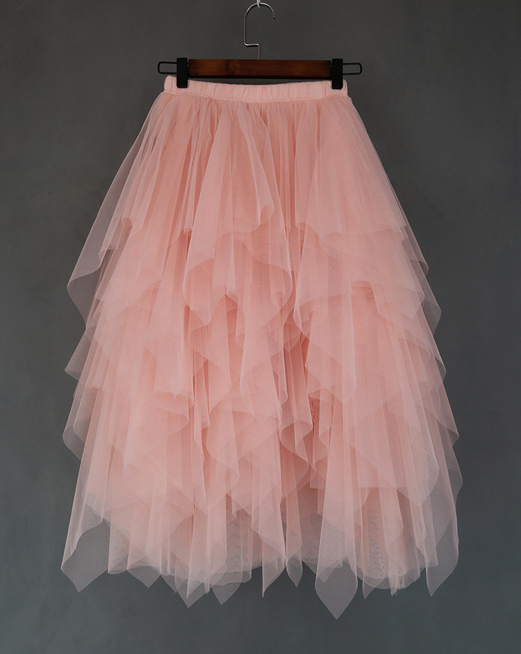 Irregular tulle blush 6