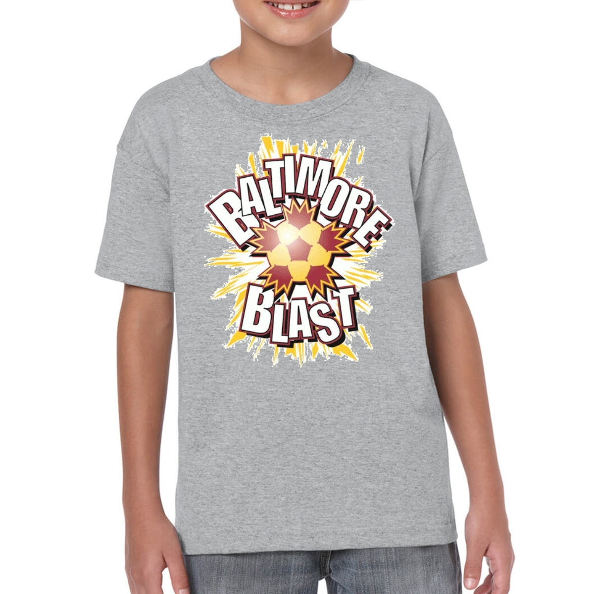 SOCCER Major Indoor Soccer League Baltimore Blast Logo 0550 Kids T-Shirt for sale  USA