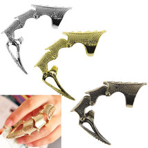 USA Punk Rings Rock Scroll Joint Armor Knuckle Metal Full Finger Claw Ri... - $211,01 MXN