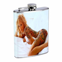 Georgia Atlanta Pin Up Girls D9 Flask 8oz Stainless Steel Hip Drinking W... - $13.81