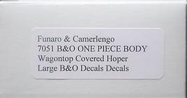Funaro & Camerlengo HO B&O Wagontop covered hopper, Large B&O decals, kit 7051 image 3