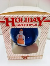 Glass Ornament Ball 2005 HOME DEPOT Snowman Snow Man Glass 22712 - $9.64