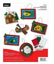 Bucilla 'Lodge Santa' Felt Ornament Stitchery Kit, 86953E, Fishing Ornam... - $21.99