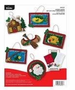 Bucilla 'Lodge Santa' Felt Ornament Stitchery Kit, 86953E, Fishing Ornam... - $21.99