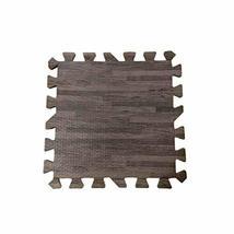 Joint Mat Interlocking Foam Mats EVA Foam Floor Mats (9 Tiles) Brown Wood Grain image 2