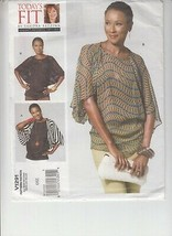 Vogue 1291 Misses Top Loose Fit Sewing Pattern Sandra Betzina Bust 32-55 - $12.86