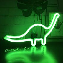 Neon Light LED Dinosaur Sign Shaped Decor Light,Wall Decor for Christmas,Birthda