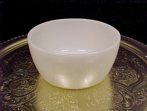 Anchor Hocking Glass Ivory White Lazy Susan Fire King