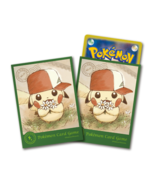 Pokemon Center Card Sleeves Japanese Pikachu Deck Shield Ash's Hat 64pcs - $15.99