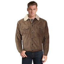 Men's Premium Classic Button Up Fur Lined Corduroy Sherpa Trucker Jacket image 12