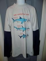 Lands' End White Long Sleeve Rash-guard Swim Shirt Size M (10/12) Boy's EUC - $22.25
