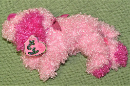 TY PINKYS BEANIE BABIES SPARKLE PINK PUPPY DOG WITH HEART TAG & RIBBON P... - $5.00