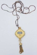 Vintage Neck Strap Necklace Chain Quartz HH Watch Ladies  - $13.14