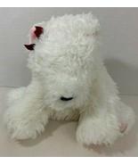 Victoria's Secret Gund 2001 Lola Polar Bear Teddy white Plush red bow pi... - $4.94