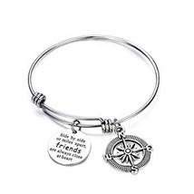 CJ&M Best Friend Bracelets - Side by Side Or Miles Apart Compass Best Fr... - $7.76