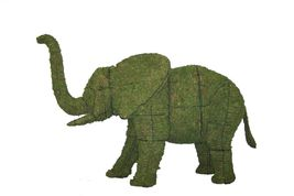 "Elephant 27"", 48"", 68"" and 89"" Topiary Sculpture - Wire Frame or Moss Fi... - $87.44+"